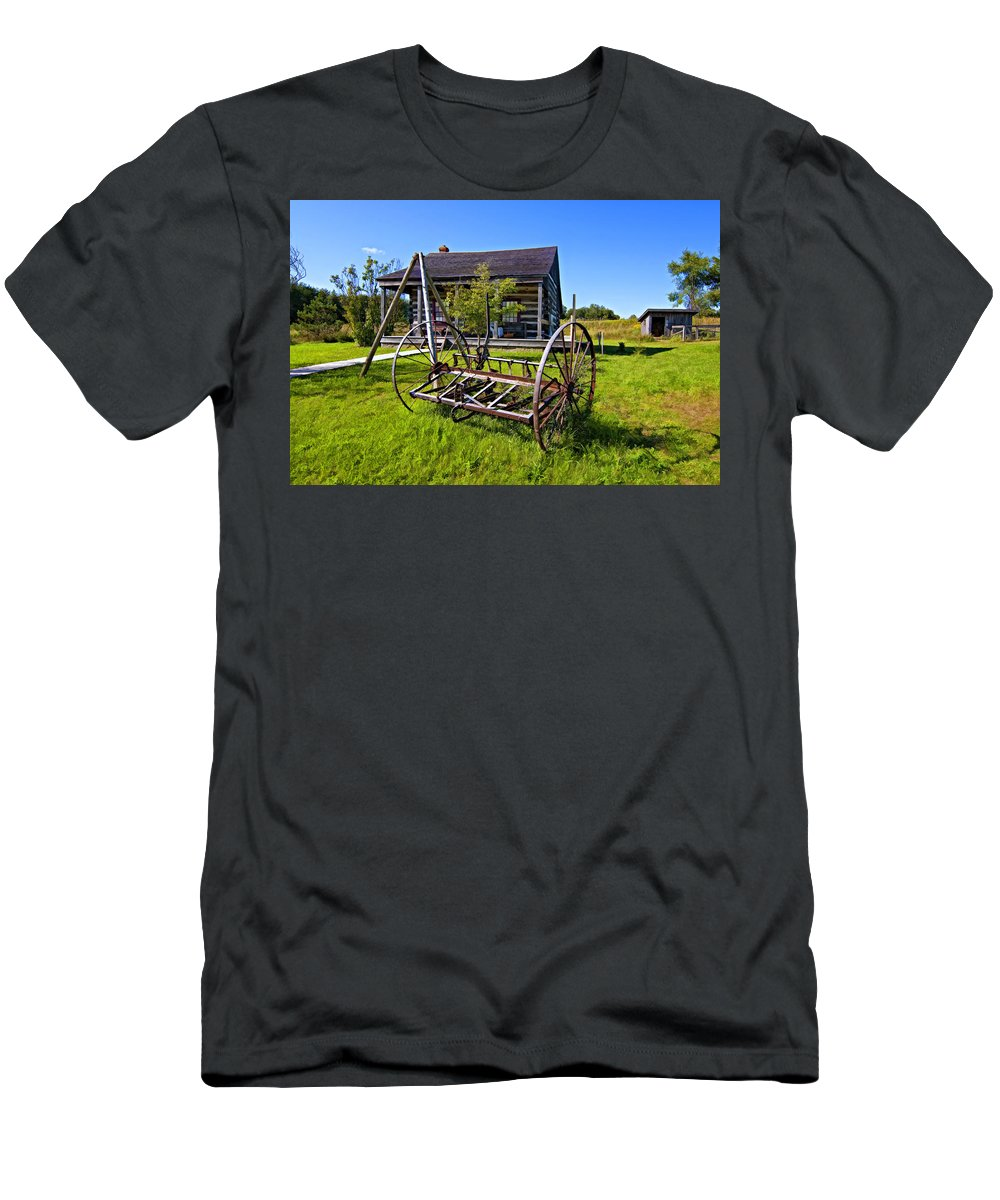 Grey Roots Museum & Archives Men's T-Shirt (Athletic Fit) featuring the photograph Country Classic Paint Filter by Steve Harrington