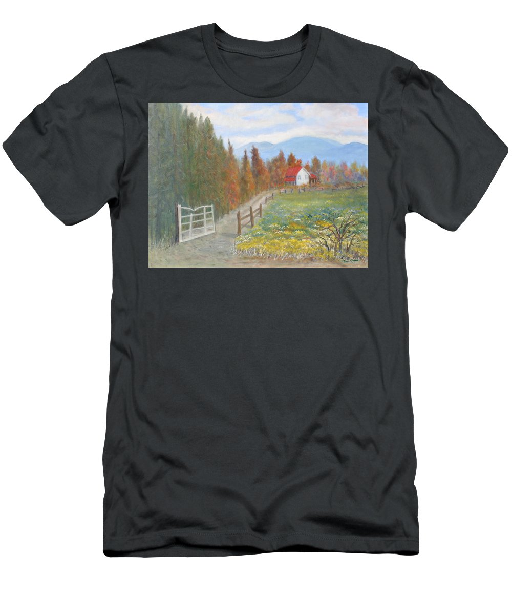T-Shirt featuring the painting Country Road by Ben Kiger