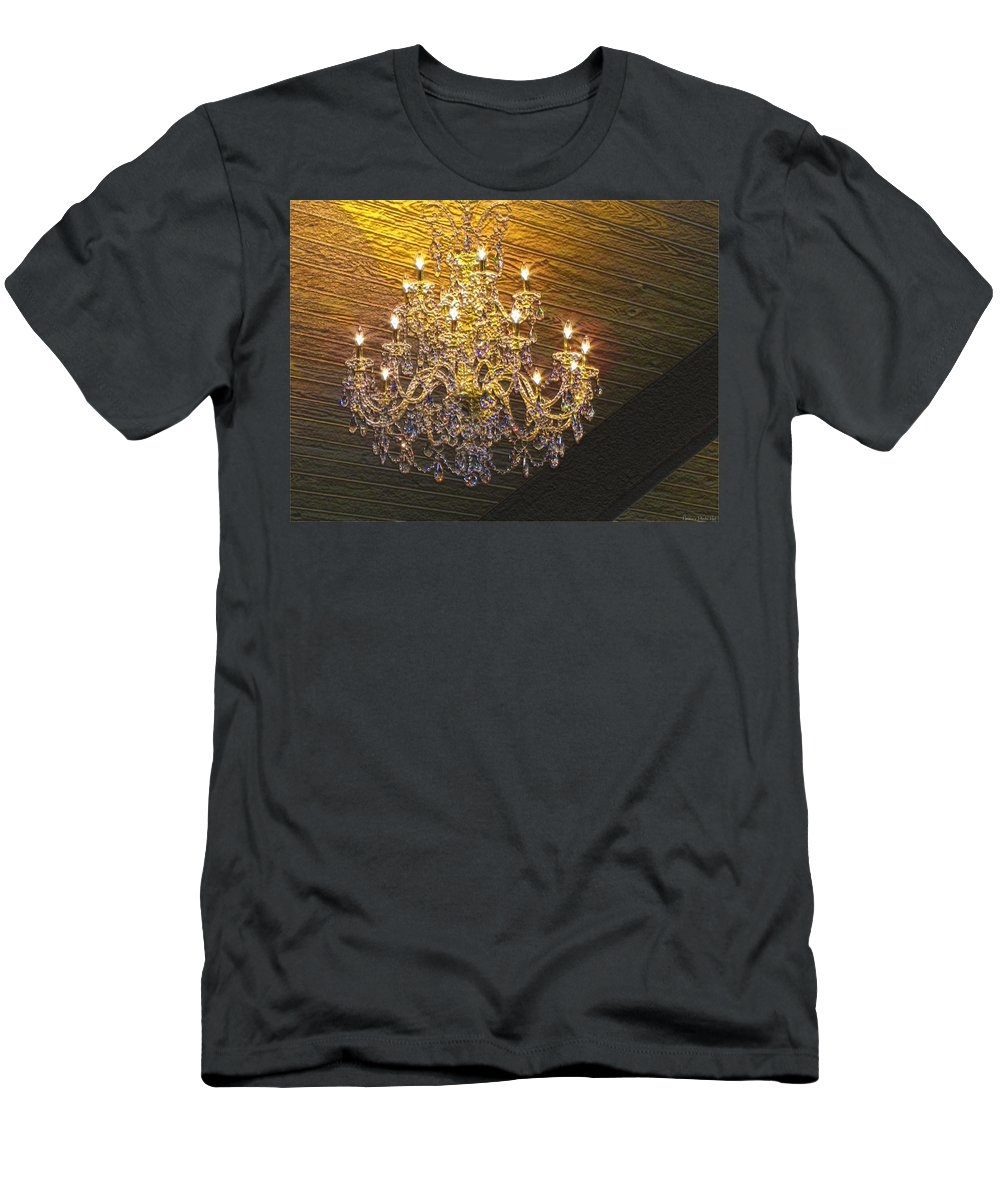 Arcitecture Men's T-Shirt (Athletic Fit) featuring the digital art Crystal Chandaler by Debbie Portwood