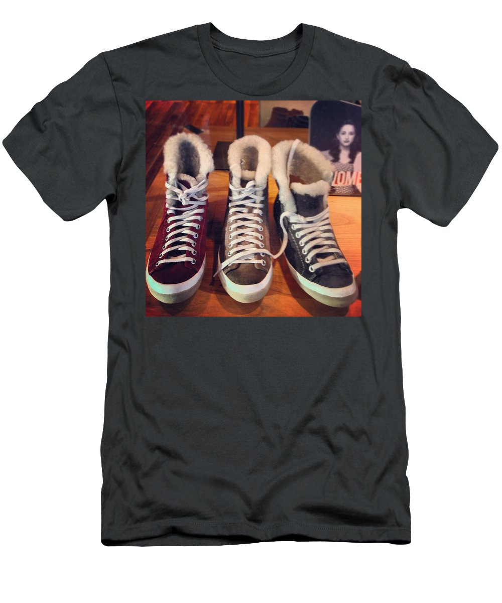 Men's T-Shirt (Athletic Fit) featuring the photograph Cumphy Chucks by Mark Valentine