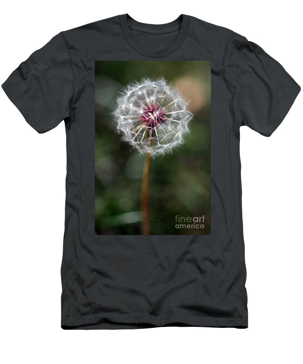Abstract Men's T-Shirt (Athletic Fit) featuring the photograph Dandelion Seed Head by Henrik Lehnerer