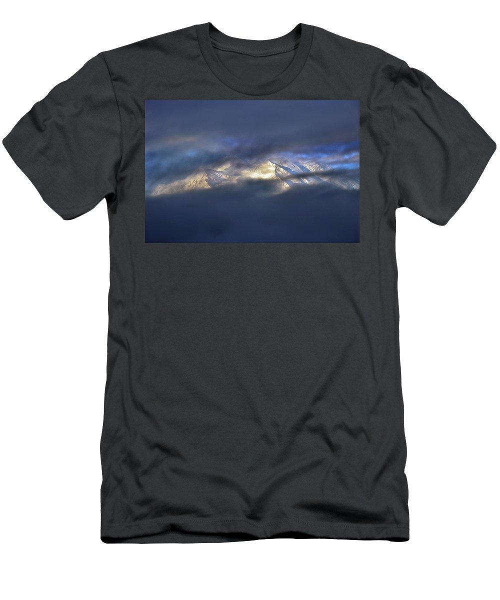 Denali National Park Men's T-Shirt (Athletic Fit) featuring the photograph Denali by Rick Berk