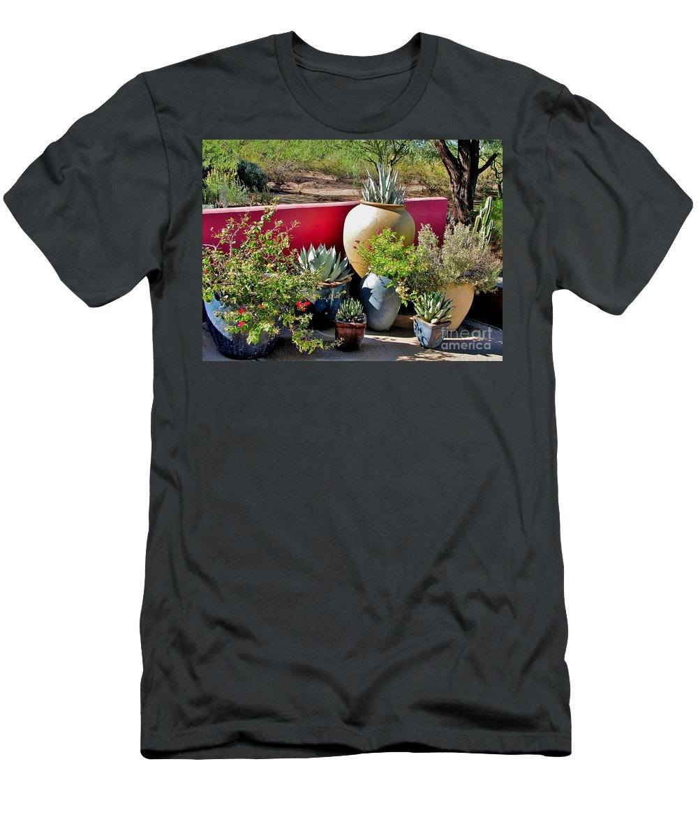 Southwest Plants Men's T-Shirt (Athletic Fit) featuring the photograph Desert Delight by Marilyn Smith
