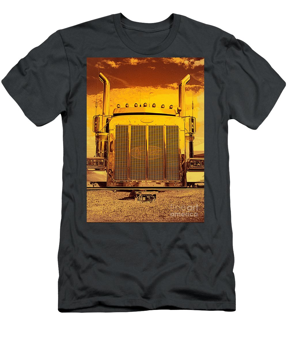 Trucks Men's T-Shirt (Athletic Fit) featuring the photograph Desert Hauler Abstract by Randy Harris