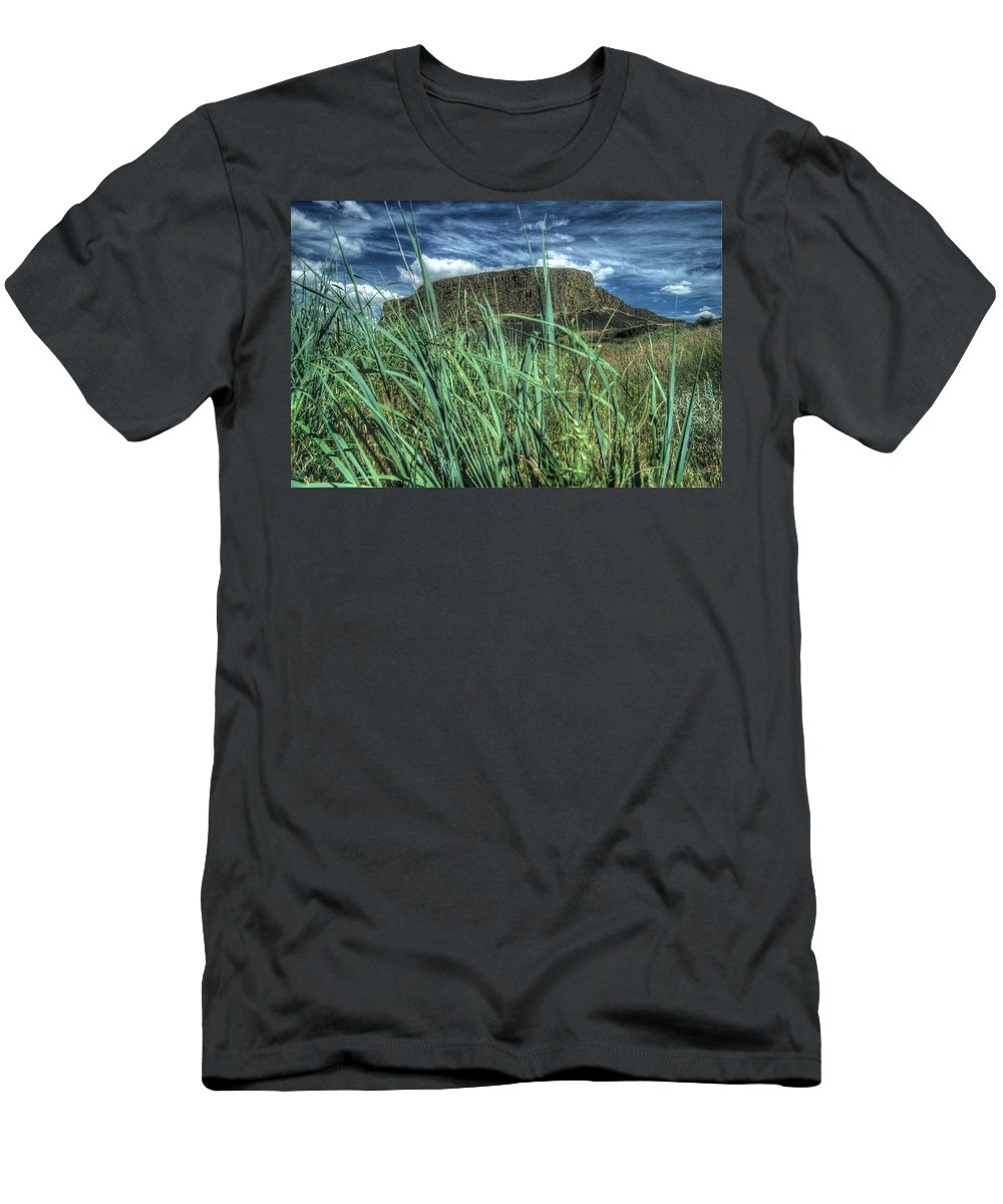 Desert Men's T-Shirt (Athletic Fit) featuring the photograph Desert Monolith by One Rude Dawg Orcutt