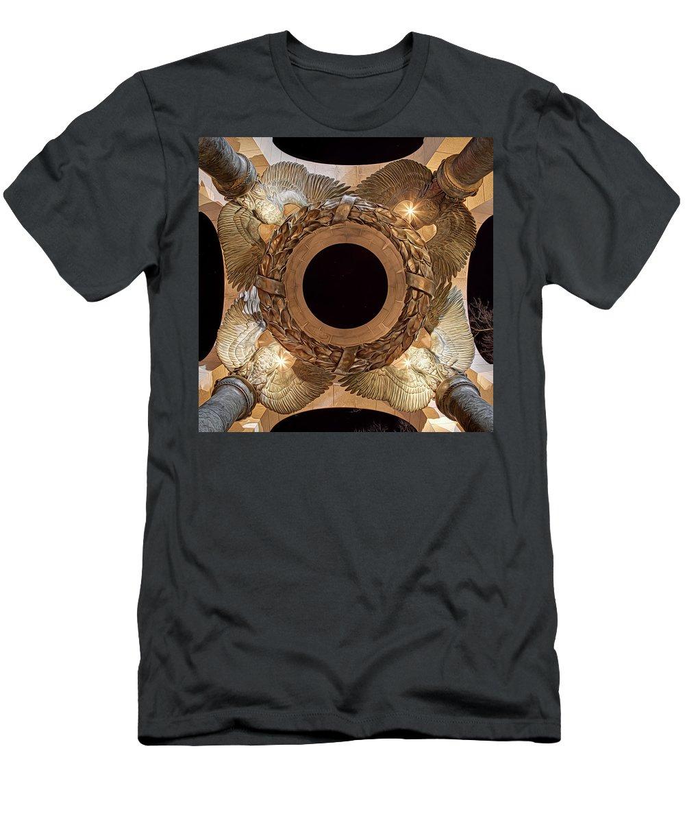 Metro Men's T-Shirt (Athletic Fit) featuring the digital art Digital Liquid - Ww II Memorial Victory Wreath by Metro DC Photography