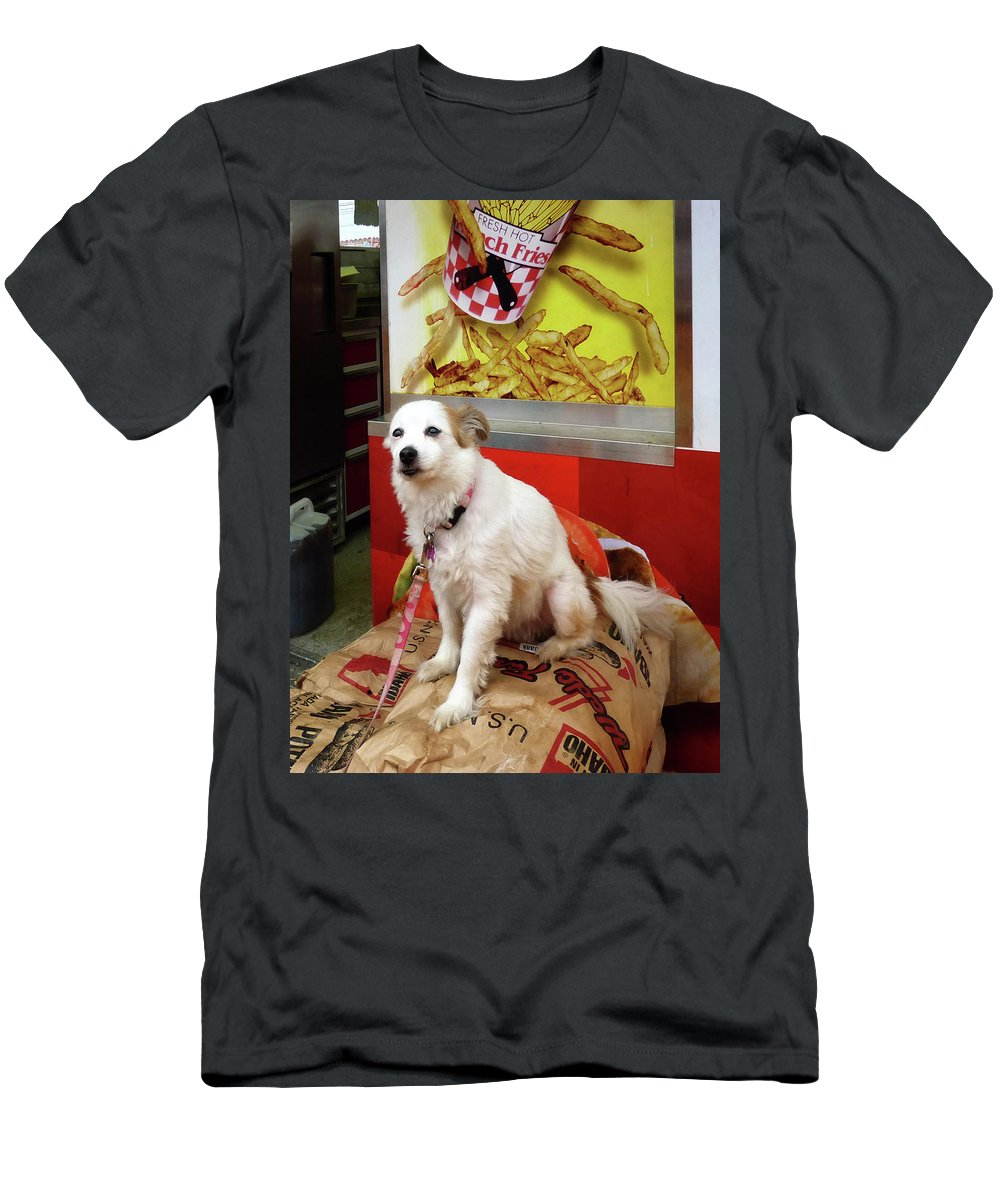 Dog Men's T-Shirt (Athletic Fit) featuring the photograph Dog At Carnival by Susan Savad