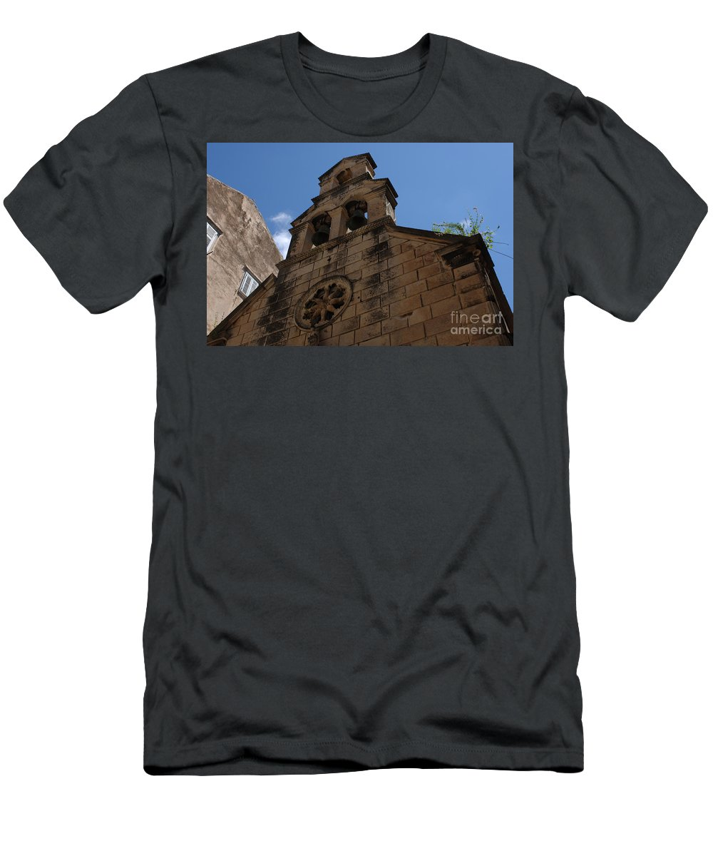 Dubrovnik Men's T-Shirt (Athletic Fit) featuring the photograph Dubrovnik Church by Bob Christopher