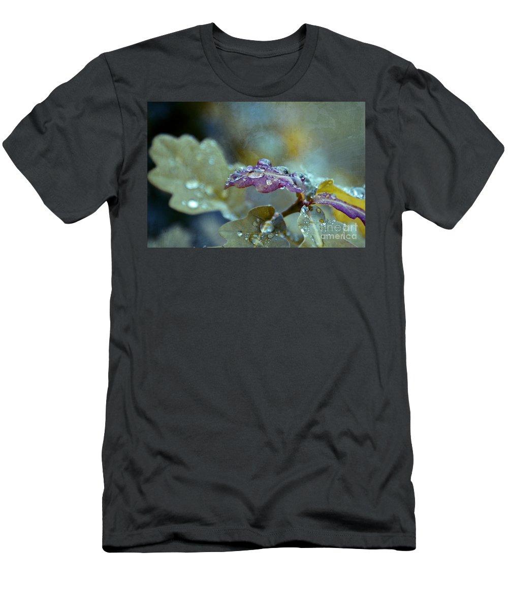 Leaves Men's T-Shirt (Athletic Fit) featuring the photograph Eau De Vie by Aimelle
