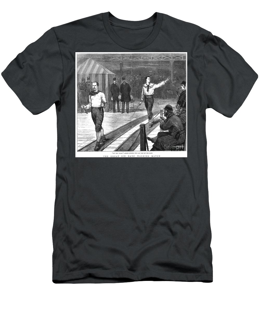 1877 Men's T-Shirt (Athletic Fit) featuring the photograph Edward Payson Weston by Granger