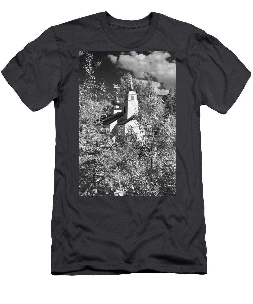 Eklutna Church Men's T-Shirt (Athletic Fit) featuring the photograph Eklutna Church by Wes and Dotty Weber