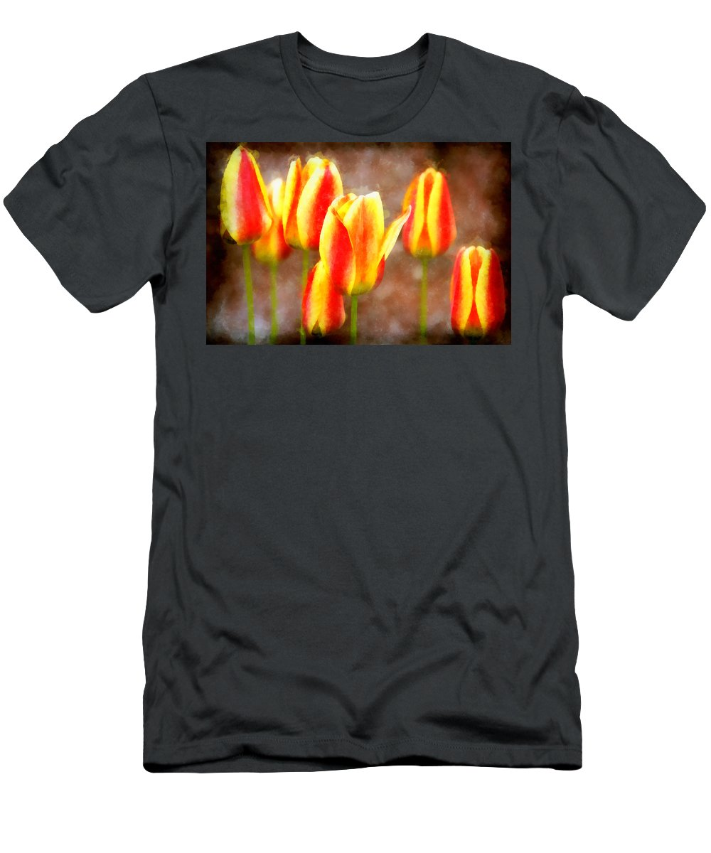 Multicolored Men's T-Shirt (Athletic Fit) featuring the photograph Enchanting by Angelina Vick