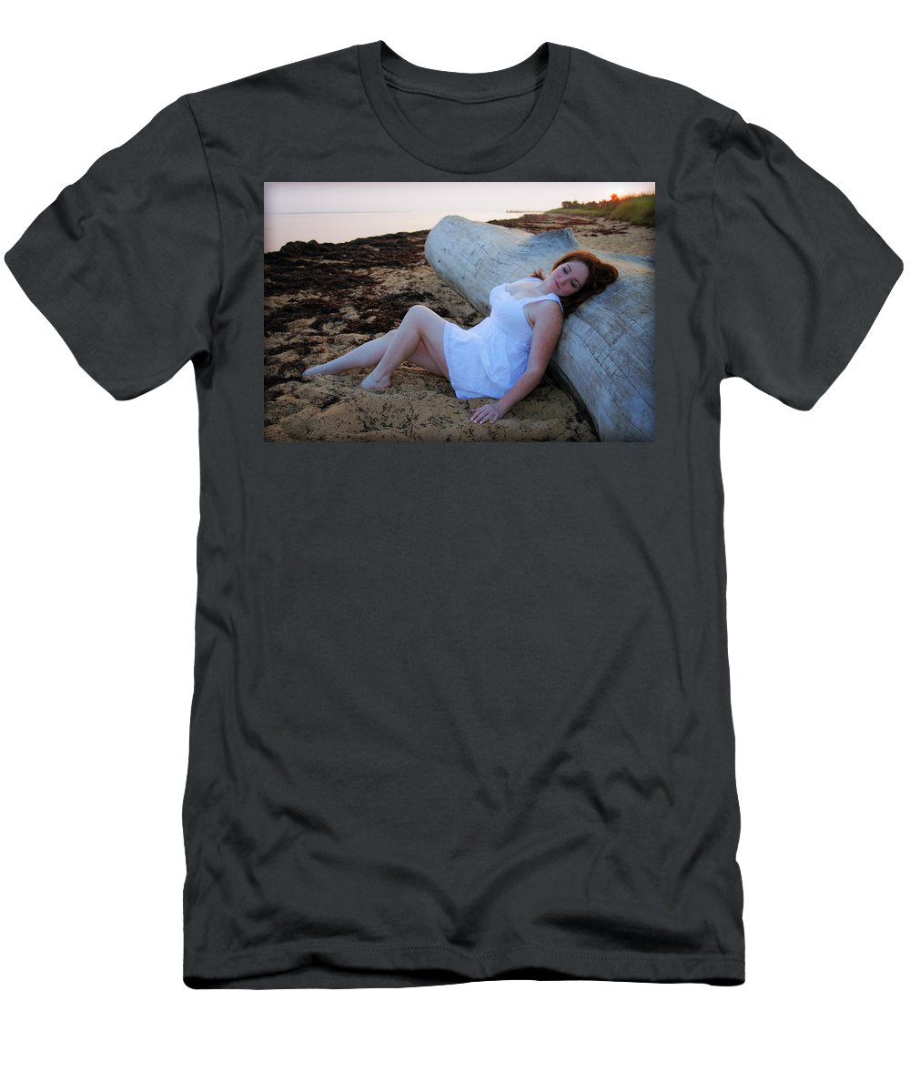 Sunrise Men's T-Shirt (Athletic Fit) featuring the photograph Enjoying The Sunrise by Rick Berk