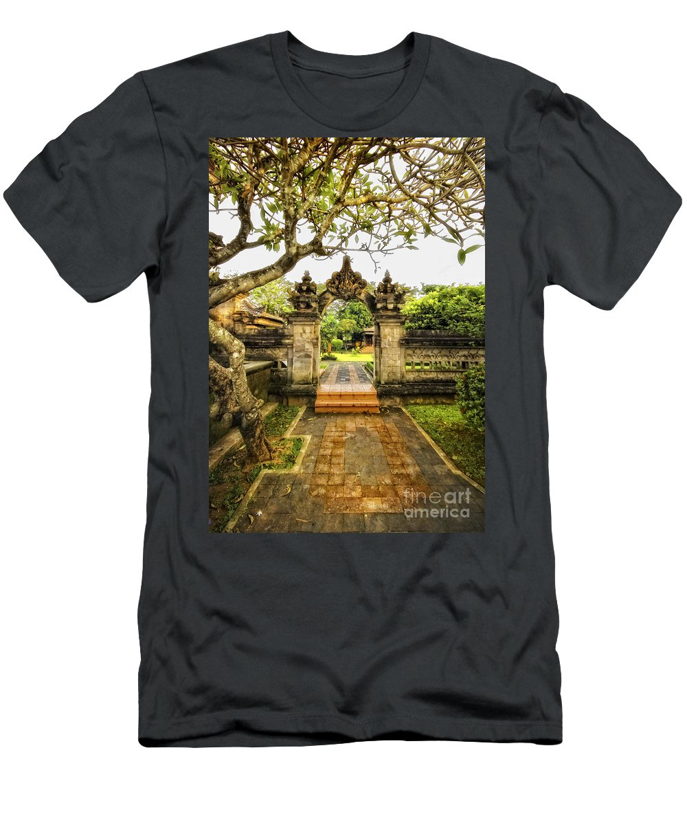 Gate Men's T-Shirt (Athletic Fit) featuring the photograph Entrance by Charuhas Images