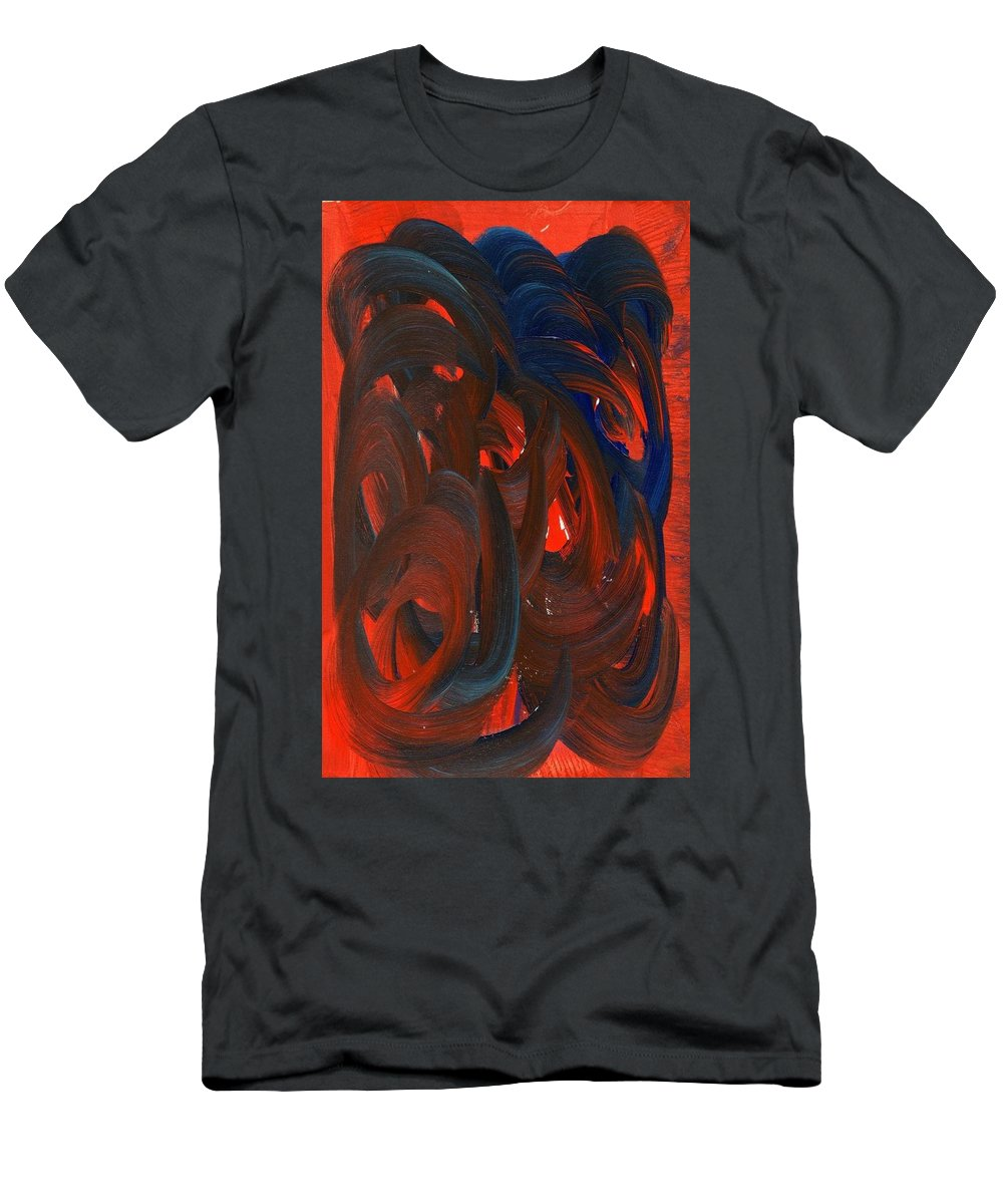 Episodic Rage Men's T-Shirt (Athletic Fit) featuring the painting Episodic Rage by Taylor Webb