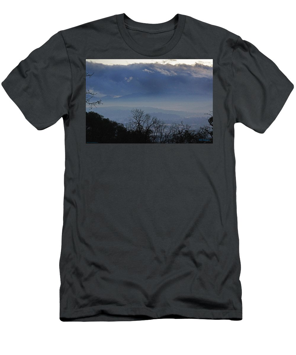 Grants Pass Men's T-Shirt (Athletic Fit) featuring the photograph Evening At Grants Pass by Mick Anderson