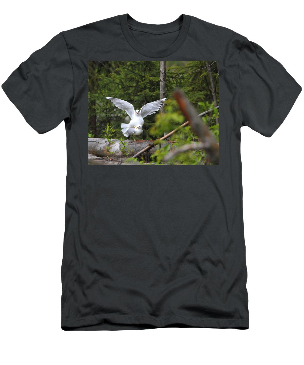 Doug Lloyd Men's T-Shirt (Athletic Fit) featuring the photograph Excuse Me by Doug Lloyd