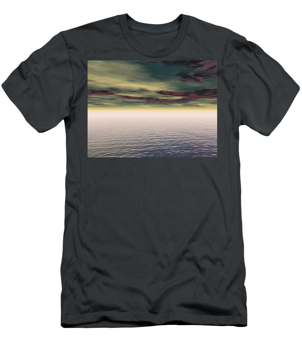 Outdoors Men's T-Shirt (Athletic Fit) featuring the photograph Expanse Of Water And Sky by Paul Sale Vern Hoffman