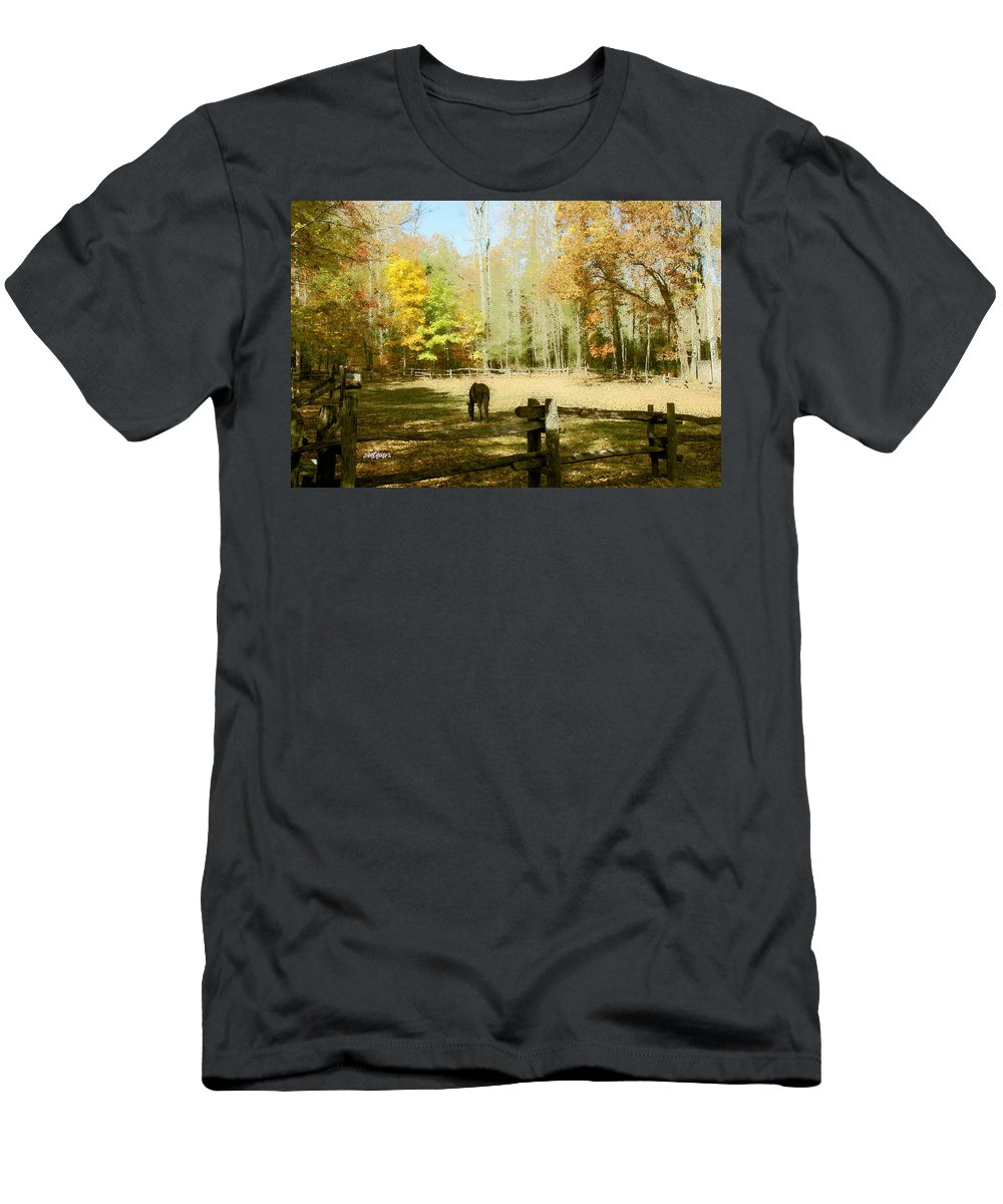 Fall Corral Men's T-Shirt (Athletic Fit) featuring the photograph Fall Corral by Seth Weaver