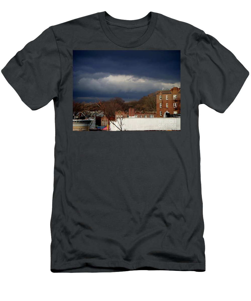 Clouds Men's T-Shirt (Athletic Fit) featuring the photograph February 8 2011 by Mark Gilman
