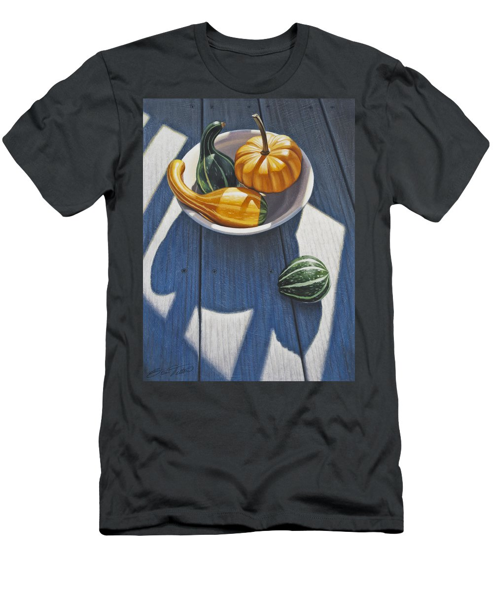 Gourds Men's T-Shirt (Athletic Fit) featuring the painting Feeling Left Out by Steven Tetlow