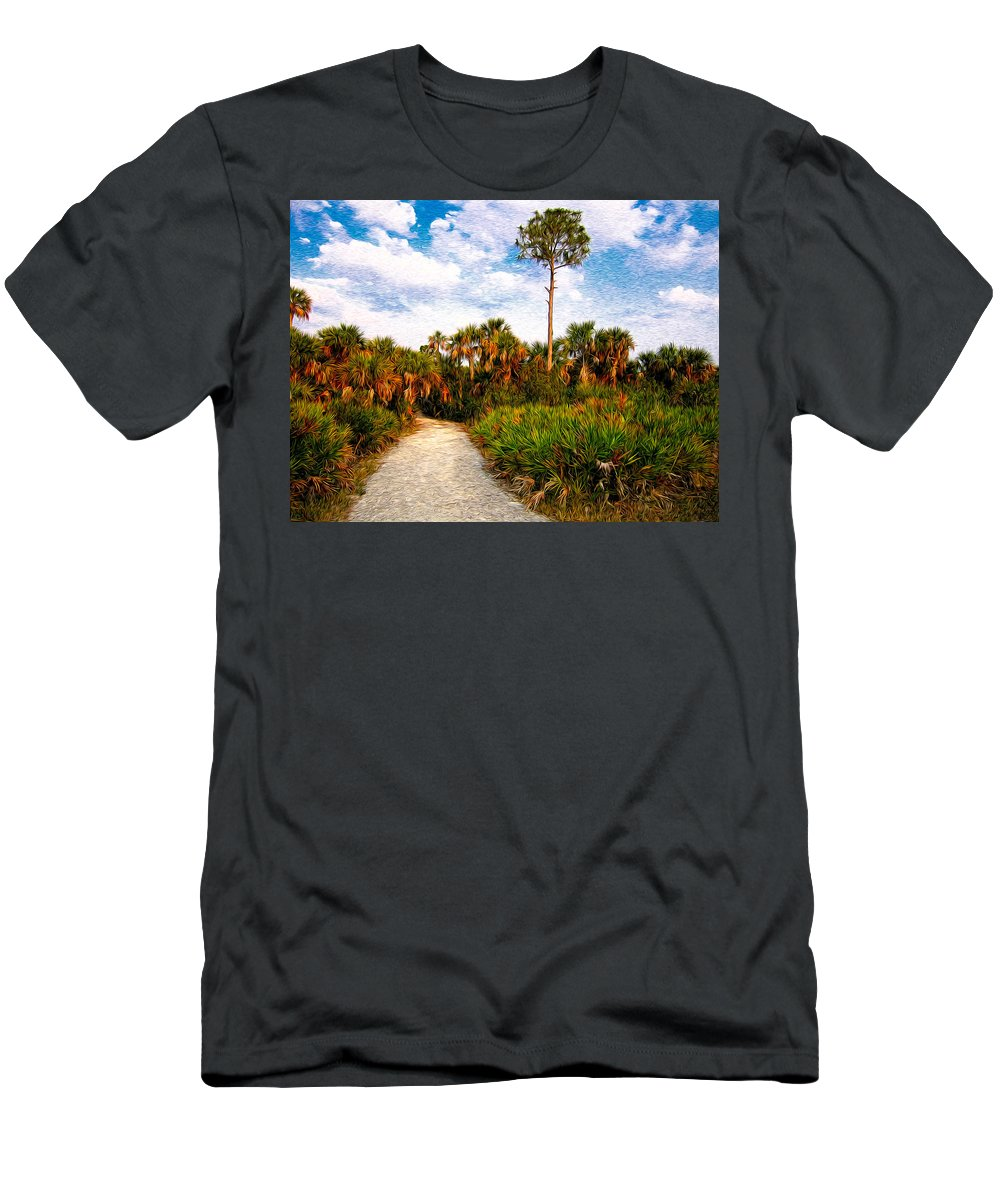 Palm Men's T-Shirt (Athletic Fit) featuring the photograph Feels Like Home by Rich Leighton