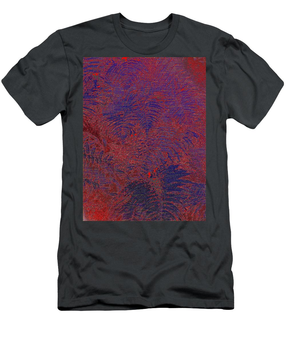 Fern Men's T-Shirt (Athletic Fit) featuring the digital art Fern Grove by Tim Allen
