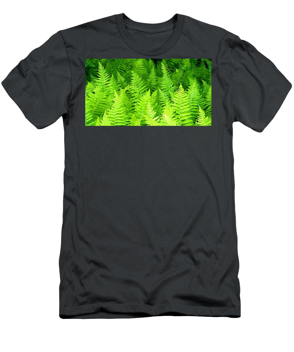 Ferns Men's T-Shirt (Athletic Fit) featuring the photograph Ferns Galore Filtered by Duane McCullough