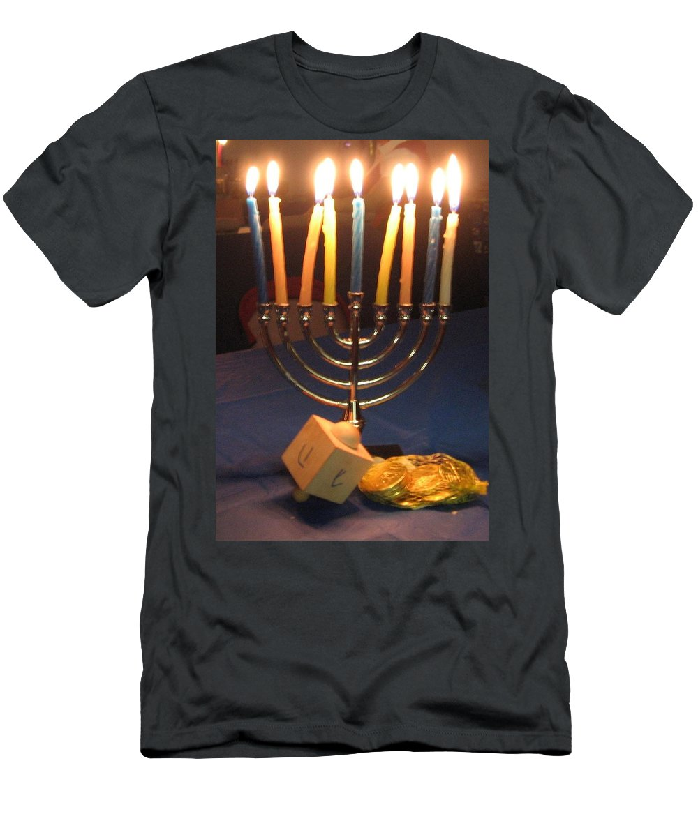 Jewish Men's T-Shirt (Athletic Fit) featuring the photograph Festive Nights by Amy Hosp