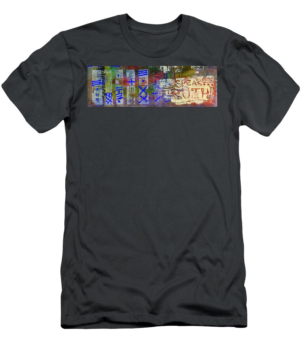 Spiritual Men's T-Shirt (Athletic Fit) featuring the painting Five Views... Same Truth by Angela L Walker