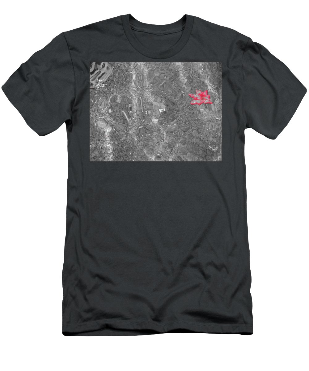 Flower Men's T-Shirt (Athletic Fit) featuring the photograph Floating by Michele Nelson