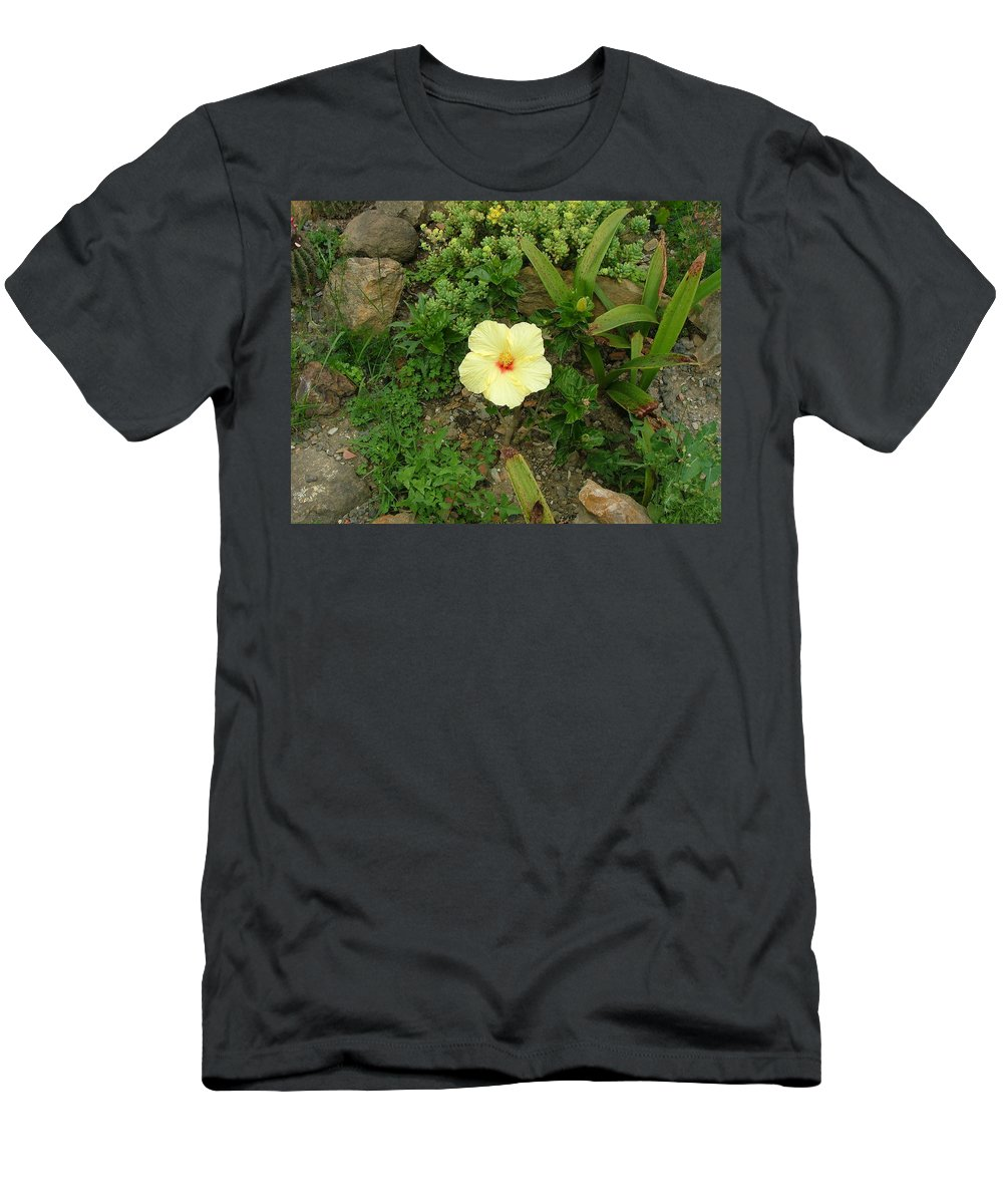 Landscape Men's T-Shirt (Athletic Fit) featuring the photograph Flower In Yellow by Dennis Pintoski