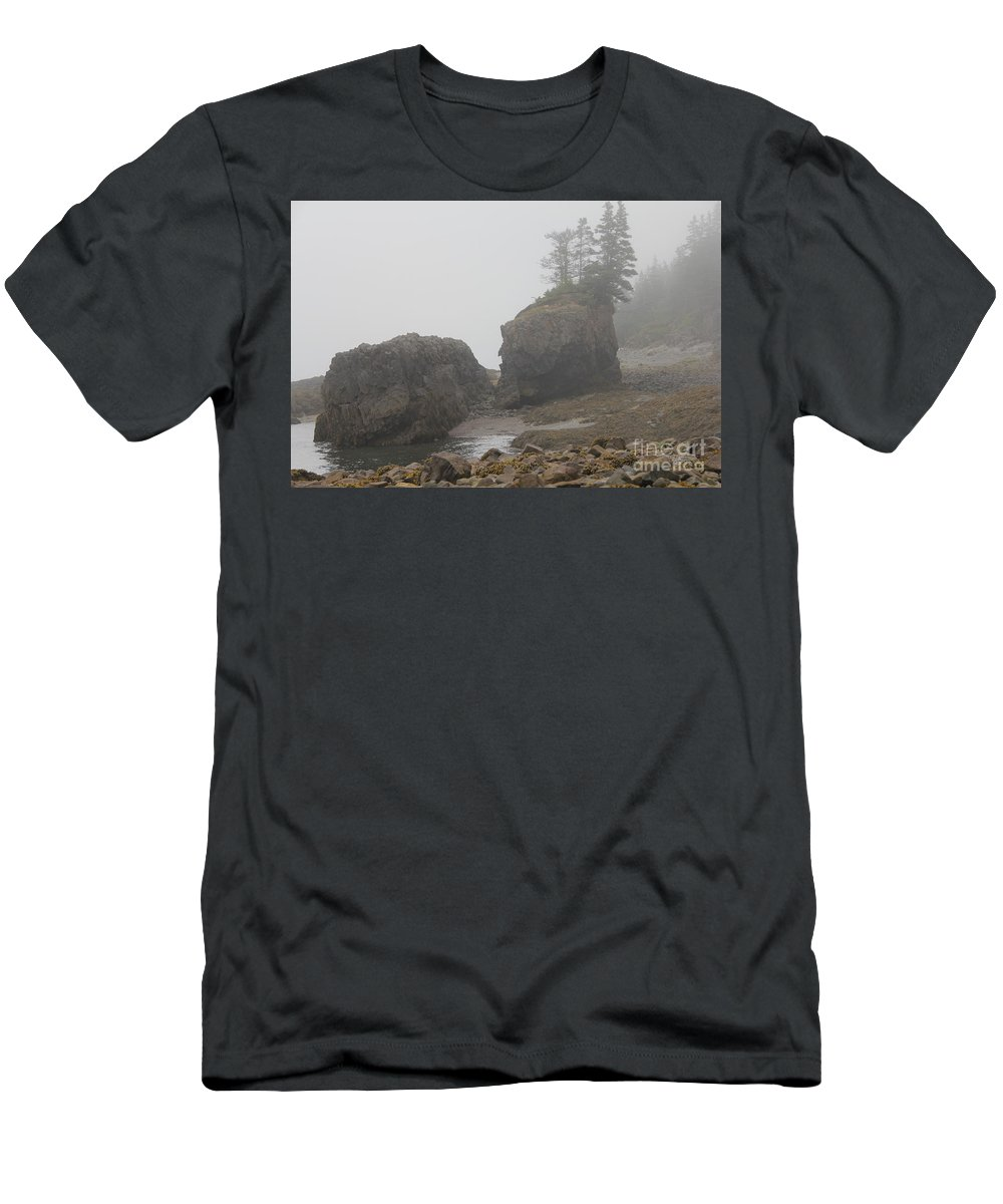Fog Men's T-Shirt (Athletic Fit) featuring the photograph Fogger by Diane Greco-Lesser