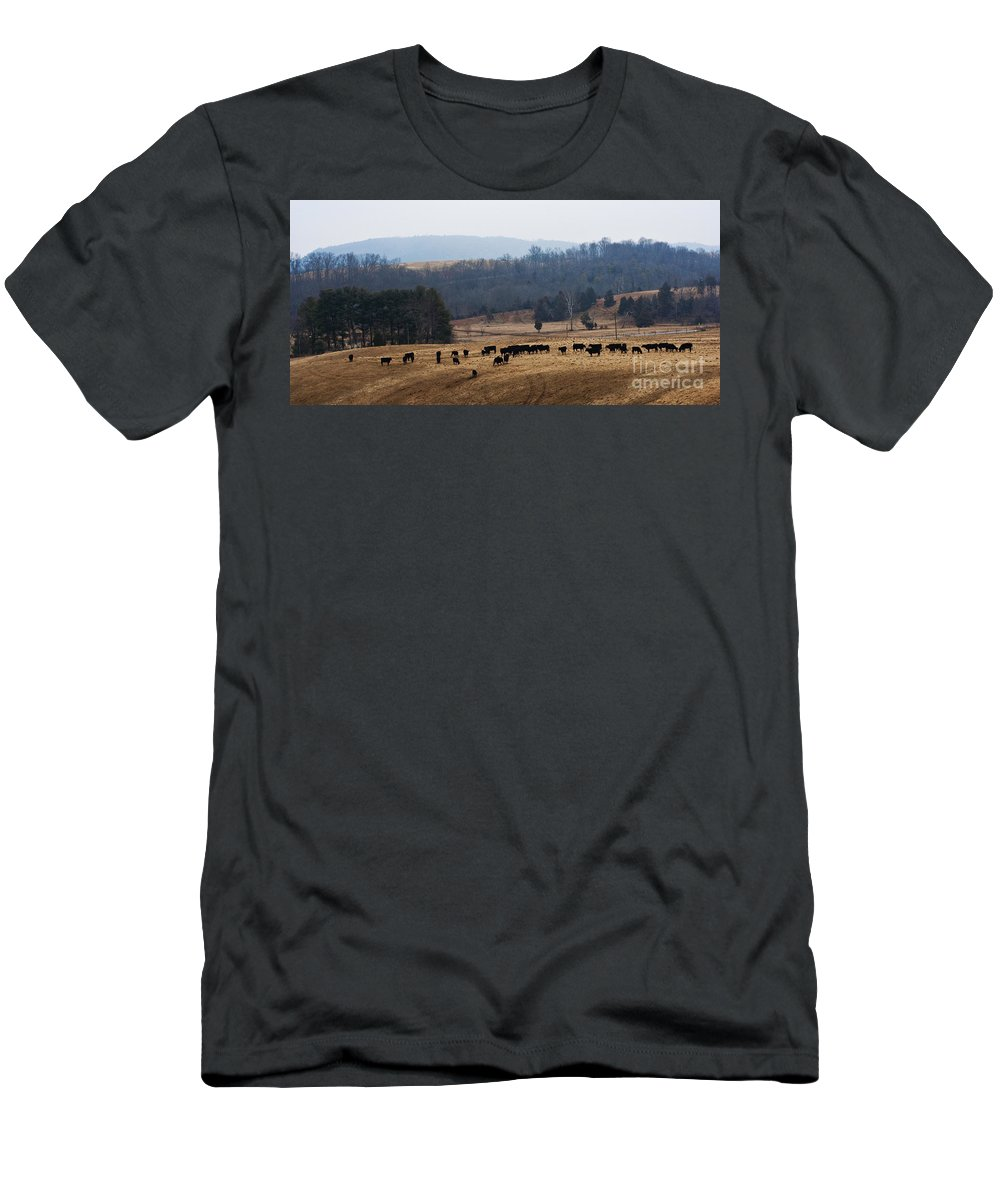 West Virginia Men's T-Shirt (Athletic Fit) featuring the photograph Foothills Of West Virginia by Barbara McMahon