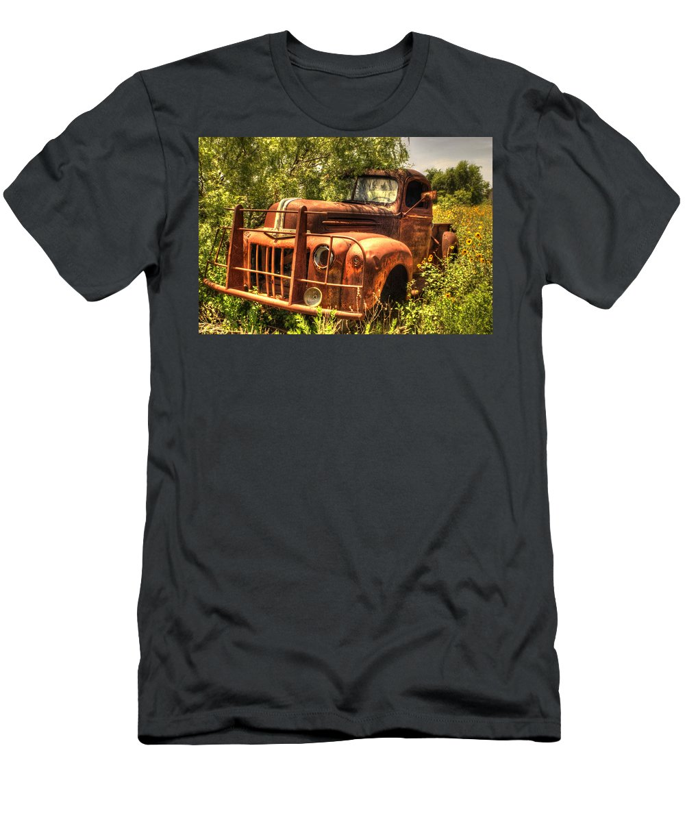 Ford Men's T-Shirt (Athletic Fit) featuring the photograph Ford In The Weeds by Beth Gates-Sully
