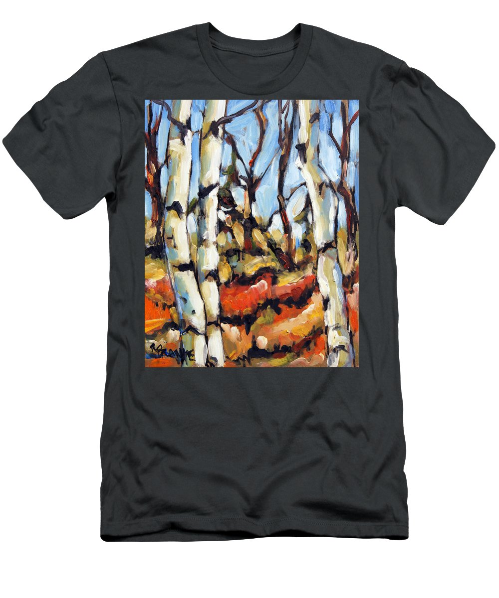 Art Men's T-Shirt (Athletic Fit) featuring the painting Forest Edge By Prankearts by Richard T Pranke