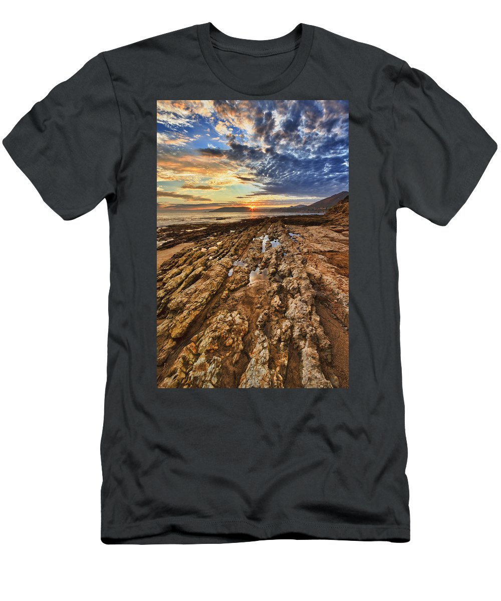 Shell Beach Men's T-Shirt (Athletic Fit) featuring the photograph Forever by Beth Sargent