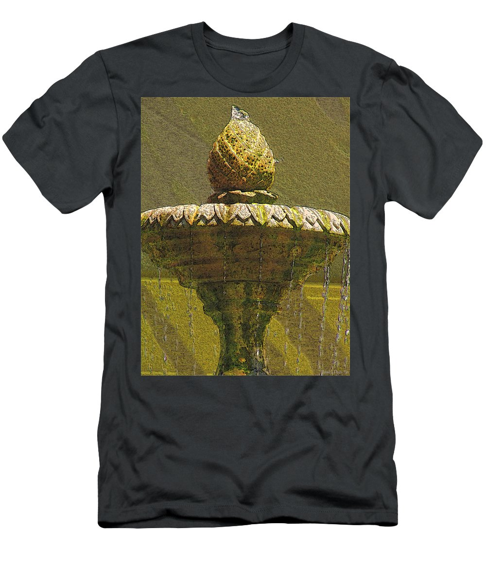 Arcitecture Men's T-Shirt (Athletic Fit) featuring the digital art Fountain by Debbie Portwood