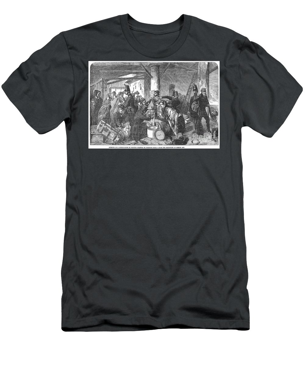 1854 Men's T-Shirt (Athletic Fit) featuring the photograph France: Custom House, 1854 by Granger