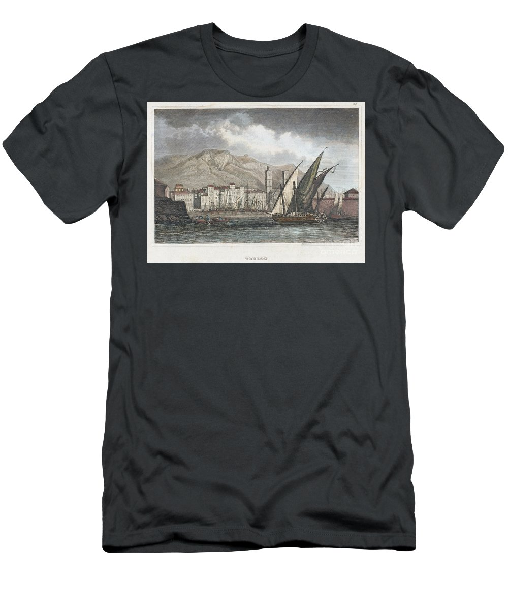1850 Men's T-Shirt (Athletic Fit) featuring the photograph France: Toulon, C1850 by Granger