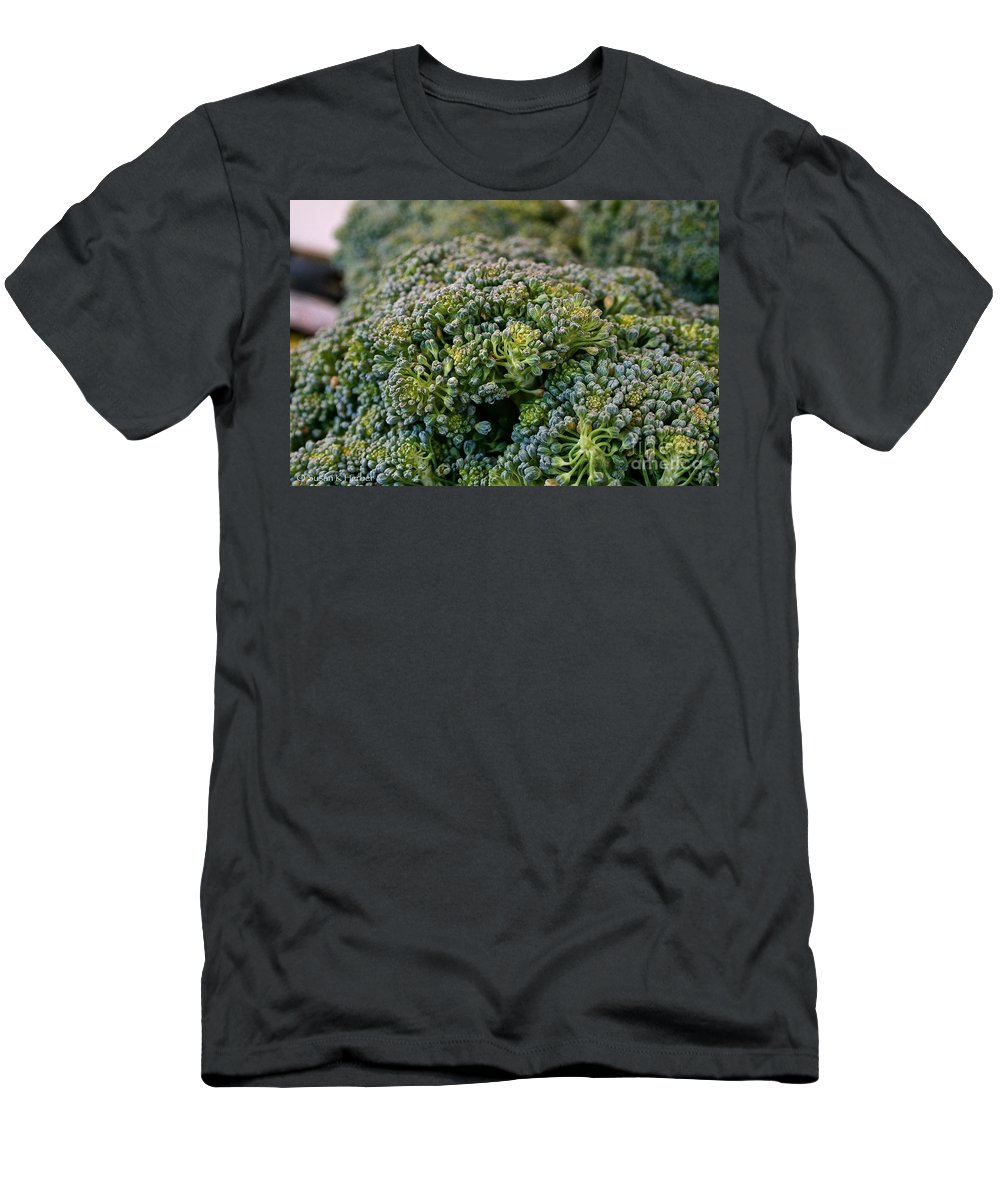 Food Men's T-Shirt (Athletic Fit) featuring the photograph Fresh Broccoli by Susan Herber