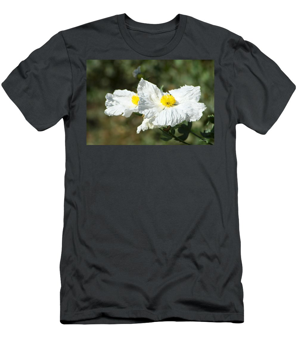 Wilflife Men's T-Shirt (Athletic Fit) featuring the photograph Fried Egg Flowers by Diana Haronis
