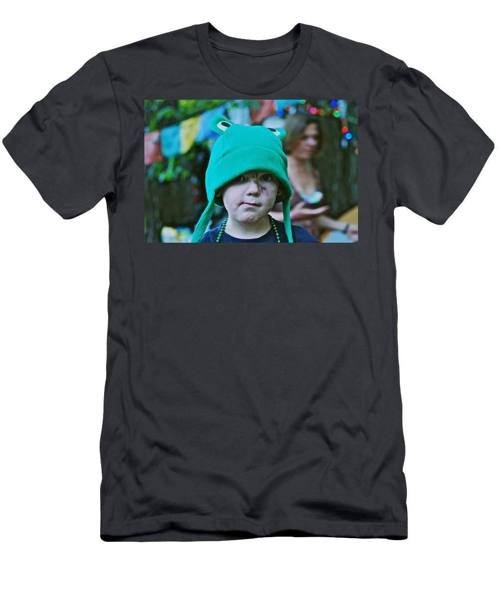 Frog Hat Men's T-Shirt (Athletic Fit) featuring the photograph Frog Hat by Eric Tressler