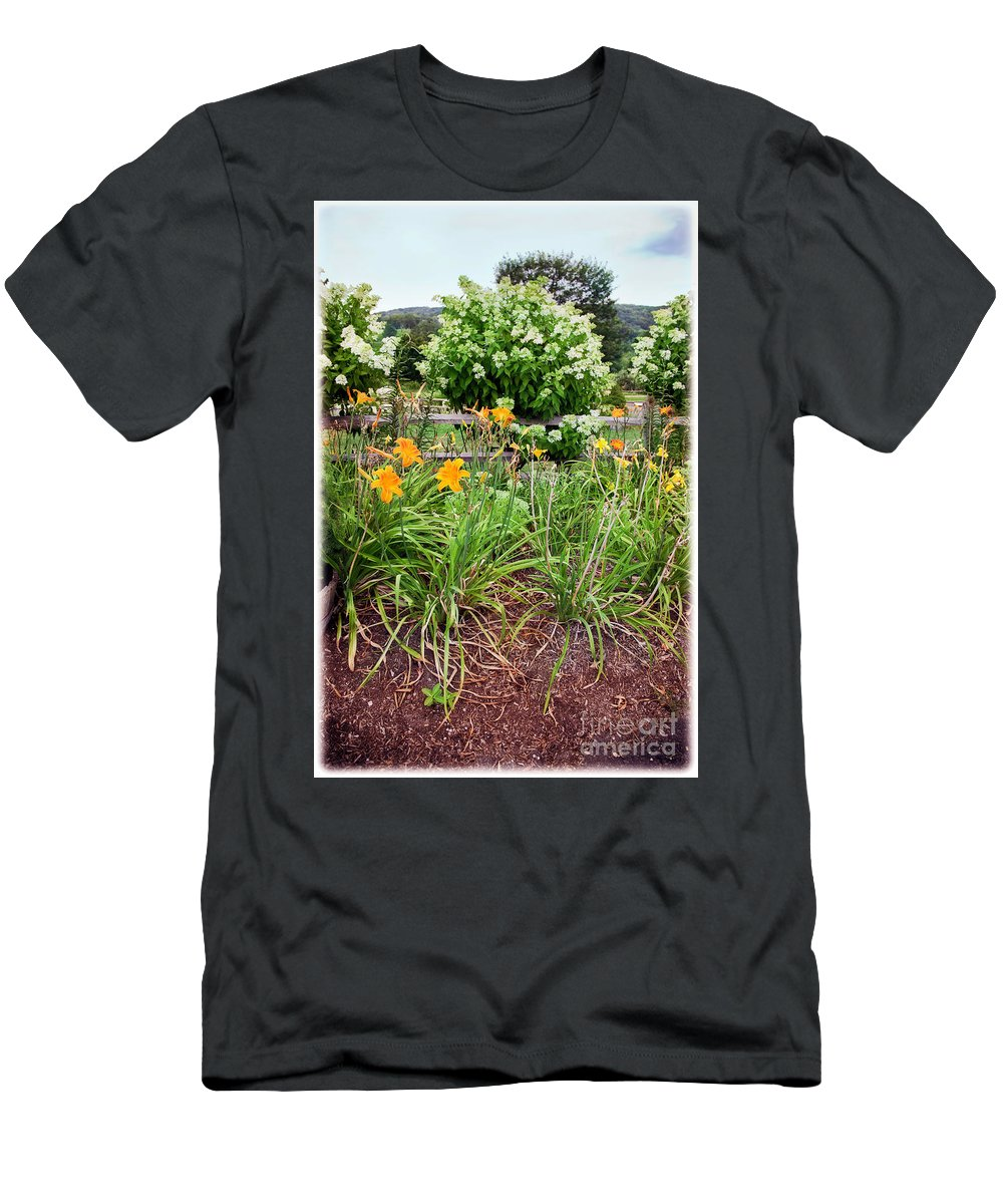 Garden Men's T-Shirt (Athletic Fit) featuring the photograph Garden Delight by Madeline Ellis