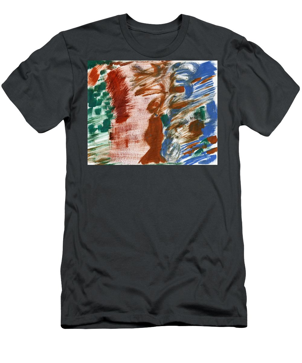 Gender Indeterminent Men's T-Shirt (Athletic Fit) featuring the painting Gender Indeterminent by Taylor Webb
