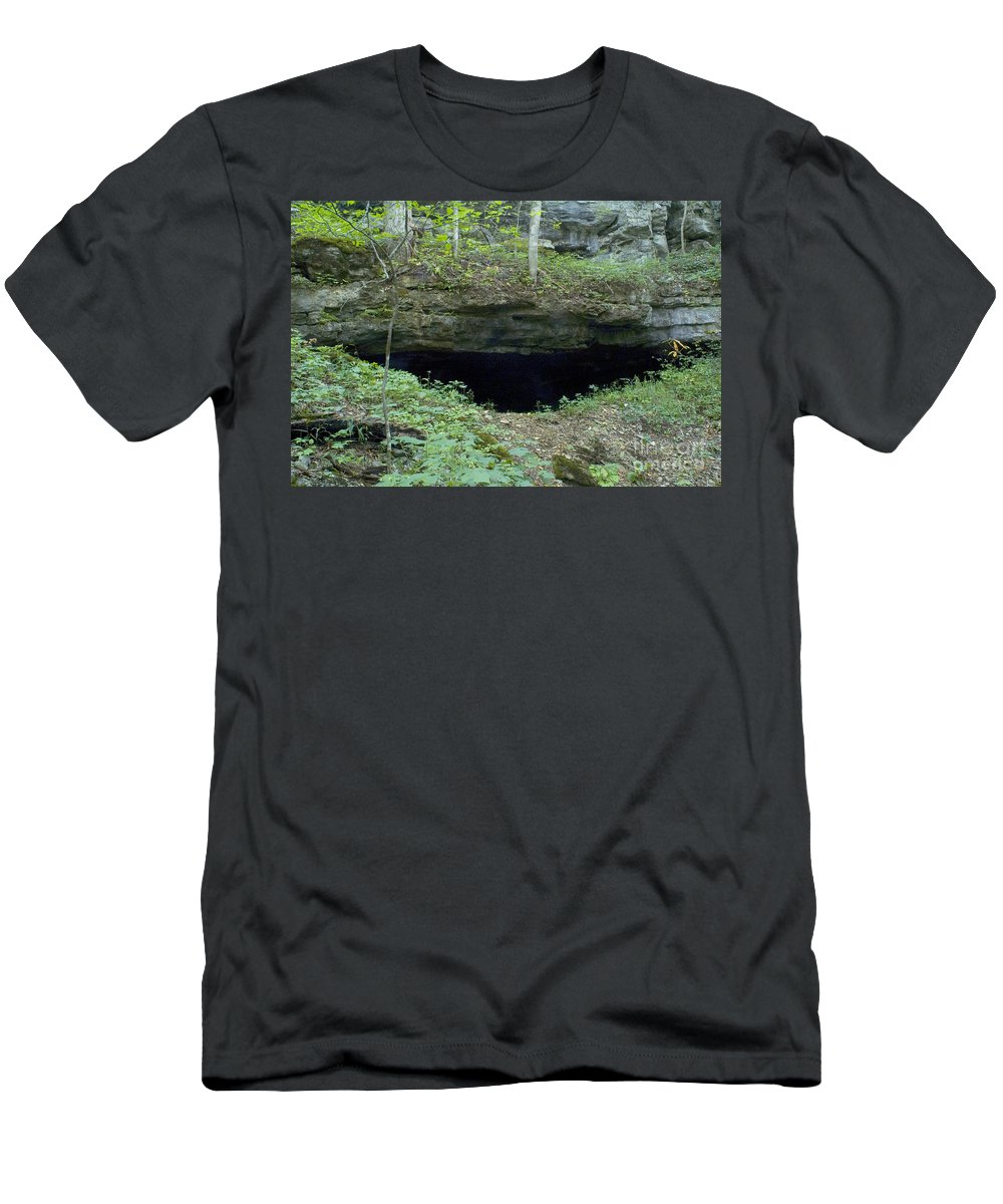 Cave Men's T-Shirt (Athletic Fit) featuring the photograph General Davis Cave by Dante Fenolio