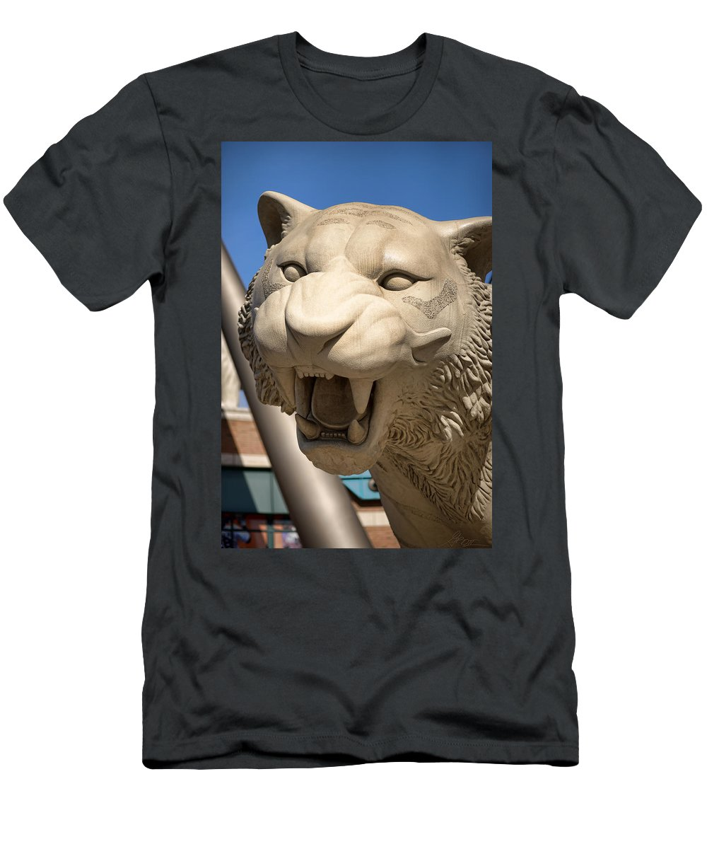 Men's T-Shirt (Athletic Fit) featuring the photograph Go Get 'em Tigers by Gordon Dean II