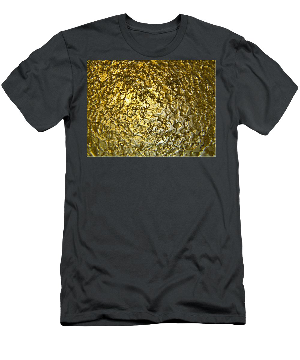 Men's T-Shirt (Athletic Fit) featuring the photograph Golden Ice Crystals by Debbie Portwood