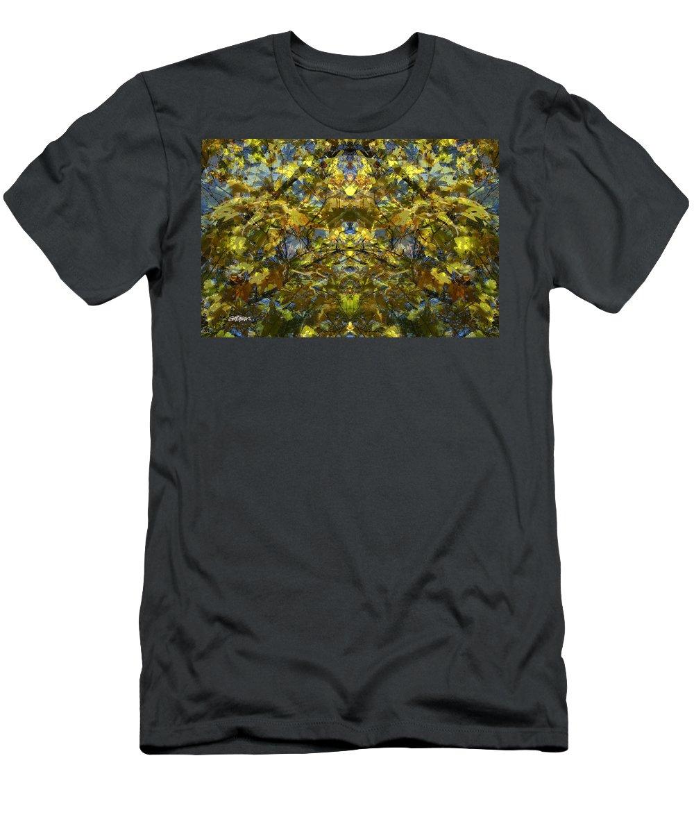 Golden Rorschach T-Shirt featuring the photograph Golden Rorschach by Seth Weaver