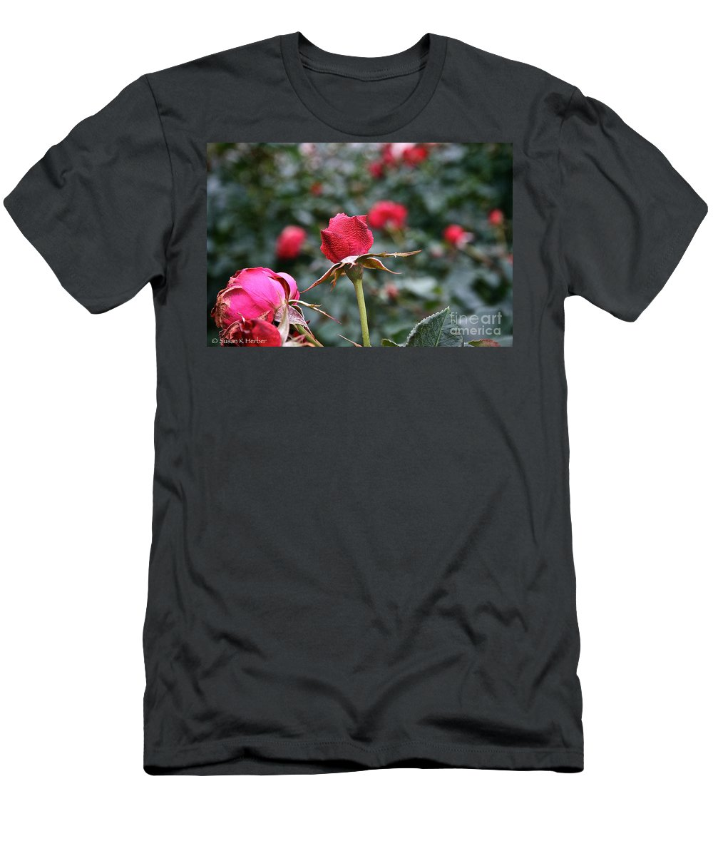 Flower Men's T-Shirt (Athletic Fit) featuring the photograph Goose Bumps by Susan Herber